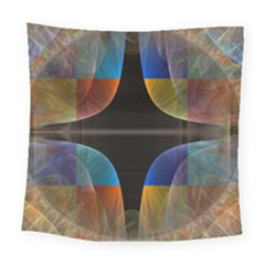 Black Cross With Color Map Fractal Image Of Black Cross With Color Map Square Tapestry (large) by Nexatart