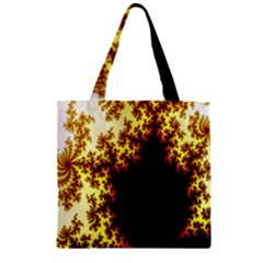A Fractal Image Zipper Grocery Tote Bag