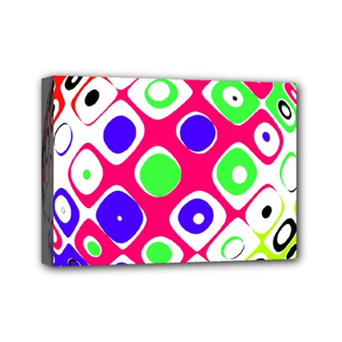 Color Ball Sphere With Color Dots Mini Canvas 7  X 5  by Nexatart
