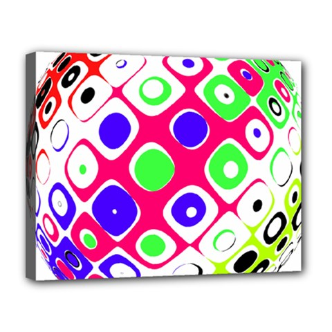 Color Ball Sphere With Color Dots Canvas 14  X 11  by Nexatart