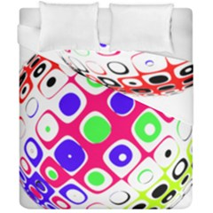 Color Ball Sphere With Color Dots Duvet Cover Double Side (california King Size) by Nexatart