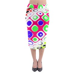 Color Ball Sphere With Color Dots Midi Pencil Skirt