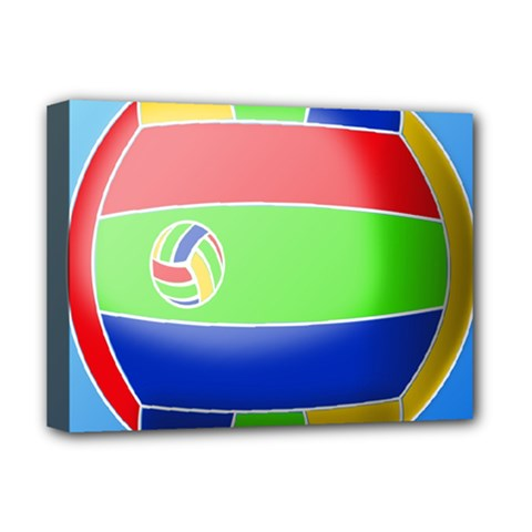 Balloon Volleyball Ball Sport Deluxe Canvas 16  X 12   by Nexatart