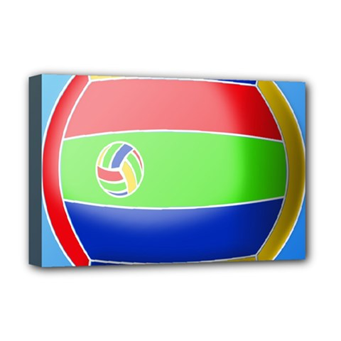 Balloon Volleyball Ball Sport Deluxe Canvas 18  X 12   by Nexatart