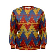 Aztec South American Pattern Zig Zag Women s Sweatshirt by Nexatart