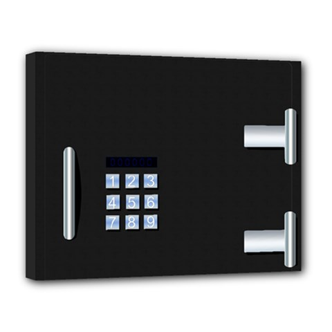 Safe Vault Strong Box Lock Safety Canvas 14  X 11  by Nexatart