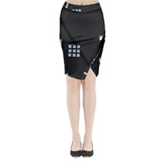 Safe Vault Strong Box Lock Safety Midi Wrap Pencil Skirt by Nexatart