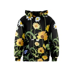 Flowers Of The Field Kids  Pullover Hoodie by Nexatart