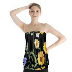 Flowers Of The Field Strapless Top