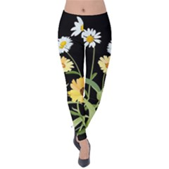 Flowers Of The Field Velvet Leggings