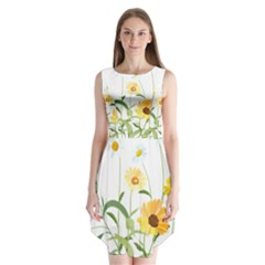 Flowers Flower Of The Field Sleeveless Chiffon Dress   by Nexatart