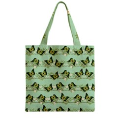 Green Butterflies Grocery Tote Bag by linceazul