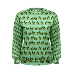 Green Butterflies Women s Sweatshirt by linceazul