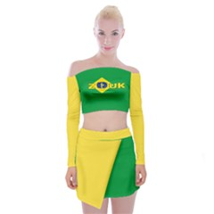 Brazil Colors Of Zouk Off Shoulder Top With Skirt Set