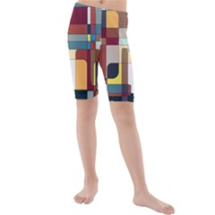 Patchwork Kids  Mid Length Swim Shorts by digitaldivadesigns
