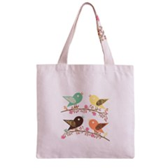 Four Birds Zipper Grocery Tote Bag by linceazul