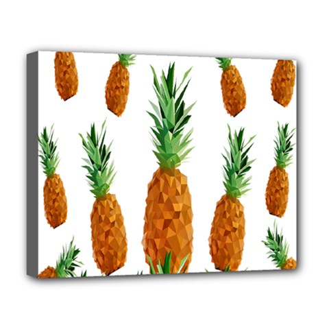 Pineapple Print Polygonal Pattern Deluxe Canvas 20  X 16   by Nexatart
