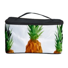 Pineapple Print Polygonal Pattern Cosmetic Storage Case by Nexatart