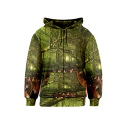 Red Deer Deer Roe Deer Antler Kids  Zipper Hoodie by Nexatart