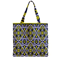 Tiles Panel Decorative Decoration Zipper Grocery Tote Bag by Nexatart