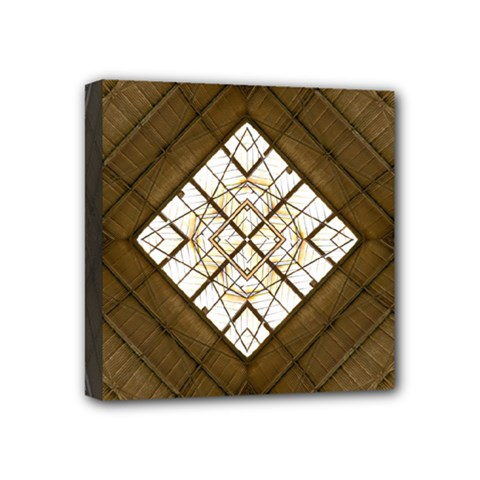 Steel Glass Roof Architecture Mini Canvas 4  X 4  by Nexatart