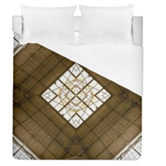 Steel Glass Roof Architecture Duvet Cover (queen Size) by Nexatart