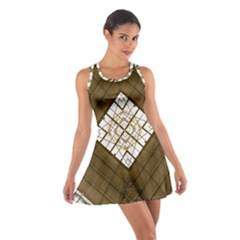 Steel Glass Roof Architecture Cotton Racerback Dress by Nexatart