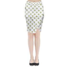 Angry Emoji Graphic Pattern Midi Wrap Pencil Skirt by dflcprintsclothing