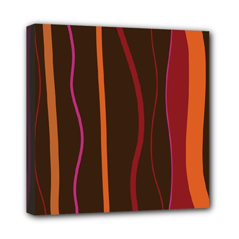 Colorful Striped Background Mini Canvas 8  X 8  by TastefulDesigns