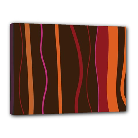 Colorful Striped Background Canvas 16  X 12  by TastefulDesigns