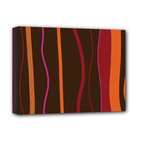 Colorful Striped Background Deluxe Canvas 16  X 12   by TastefulDesigns