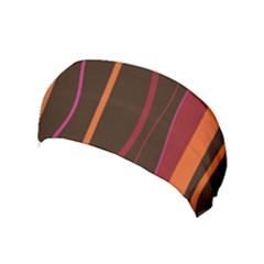 Colorful Striped Background Yoga Headband by TastefulDesigns