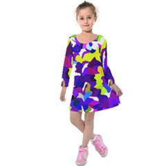 Classic New York City Kids  Long Sleeve Velvet Dress by BIBILOVER