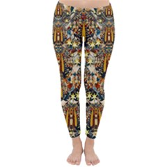 Lady Panda Goes Into The Starry Gothic Night Classic Winter Leggings by pepitasart