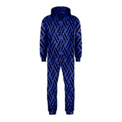 Woven2 Black Marble & Blue Brushed Metal (r) Hooded Jumpsuit (kids) by trendistuff