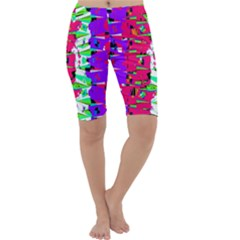Colorful Glitch Pattern Design Cropped Leggings  by dflcprintsclothing