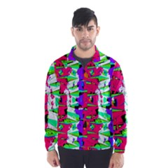 Colorful Glitch Pattern Design Wind Breaker (men) by dflcprintsclothing