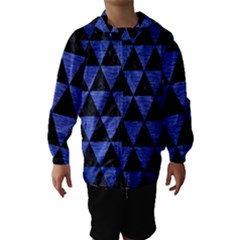 Triangle3 Black Marble & Blue Brushed Metal Hooded Wind Breaker (kids) by trendistuff