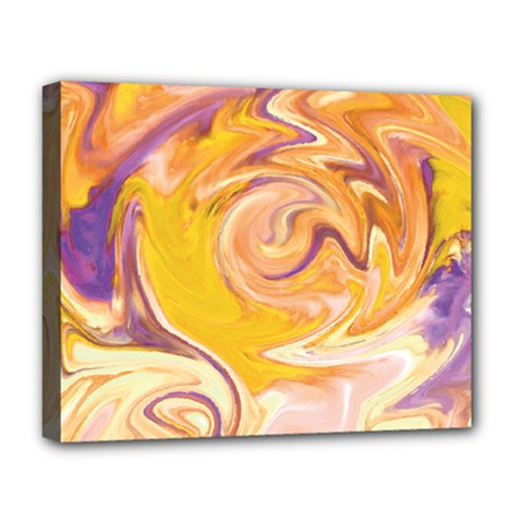 Yellow Marble Deluxe Canvas 20  X 16   by tarastyle
