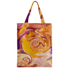 Yellow Marble Zipper Classic Tote Bag by tarastyle