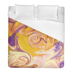 Yellow Marble Duvet Cover (full/ Double Size) by tarastyle