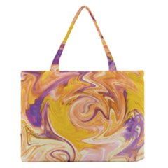 Yellow Marble Medium Zipper Tote Bag by tarastyle