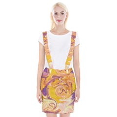 Yellow Marble Suspender Skirt
