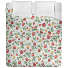 Strawberry Pattern Duvet Cover Double Side (california King Size)