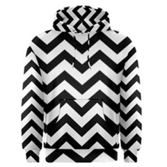 Black And White Chevron Men s Pullover Hoodie