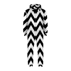 Black And White Chevron Hooded Jumpsuit (Kids)