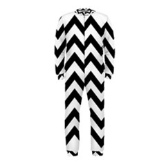 Black And White Chevron OnePiece Jumpsuit (Kids)