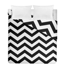 Black And White Chevron Duvet Cover Double Side (Full/ Double Size)