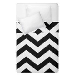 Black And White Chevron Duvet Cover Double Side (Single Size)