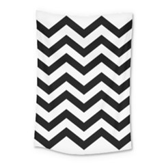 Black And White Chevron Small Tapestry